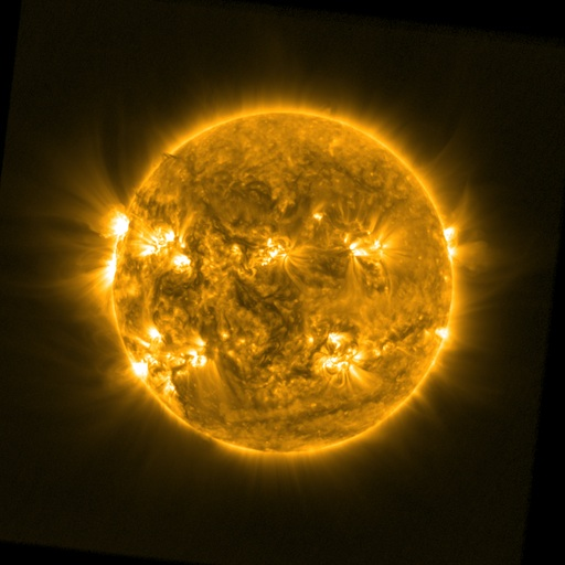 An EUV image of the sun's atmosphere, the corona, from SWAP onboard PROBA2